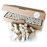 Madyes 100 Weinkorken Korken Bastelkorken Flaschenkorken natur Basteln Scrapbooking DIY neu Set 45 x 24 mm Hobby Angeln Naturkorken