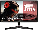 LG 24MP59G-P - Monitor Gaming FHD de 60,4 cm (23,8') con Panel IPS (1920 x 1080 píxeles, 16:9, 1 ms con MBR, 75Hz, 250 cd/m², 1000:1, sRGB >99%) Color Negro
