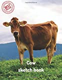 Cow sketch book: Blank Paper for Drawing, Doodling or Sketching 100 Large Blank Pages (8.5