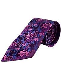 Cravate pour homme Motif cachemire Violet Abat-jour en soie de cravate