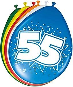 Folat-55 Globos de cumpleaños 30 cm - 8 Unidades, Multicolor, Costumes (08226)