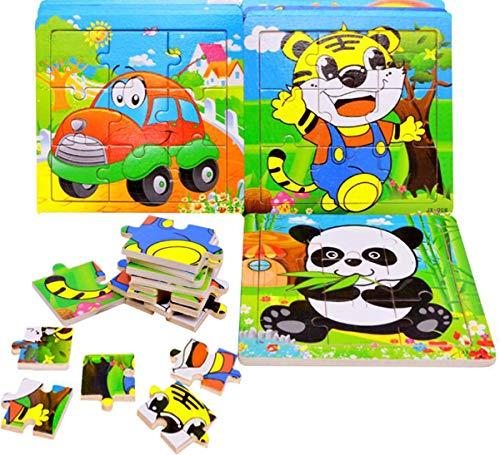 c03eb4191186 Juguetes Niños 3 Años Liuer 4PCS Puzzles Infantiles Juguete de Madera  Puzzle Juegos de Rompecabezas de