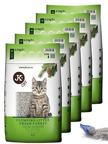 5x JK CAT GREEN FOREST Katzenstreu SPARPAKET klumpend Katzen Einstreu Klumpstreu