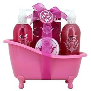 gloss baignoire de bain pink poivre rose 4 pi ces amazon. Black Bedroom Furniture Sets. Home Design Ideas