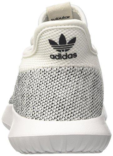 adidas Tubular Shadow Knit, Scarpe da Ginnastica Uomo Bianco (Ftwwht/Ftwwht/Cblack)