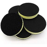 Almohadilla de interfaz de espuma de poliuretano de 75 mm de grosor, tamaño mediano, para discos de lijado – gancho y bucle (Pack de 5)