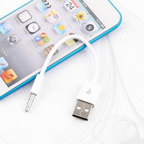 Bianco Cavo dati USB per caricabatterie SYNC Cavo per Apple iPod Shuffle 1a / 2a