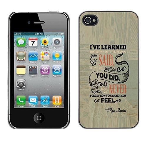 J-Case / Protettiva Custodia CASE COVER - La gente si dimentica - iPhone 4 / 4S