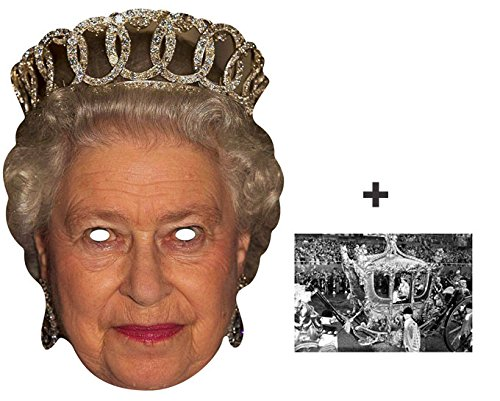7825f102 Mask Pack - Queen Elizabeth II 90th Birthday Royal Single Card Party Face  Mask - includes 6x4 inch (15cm x 10cm) Star Photo