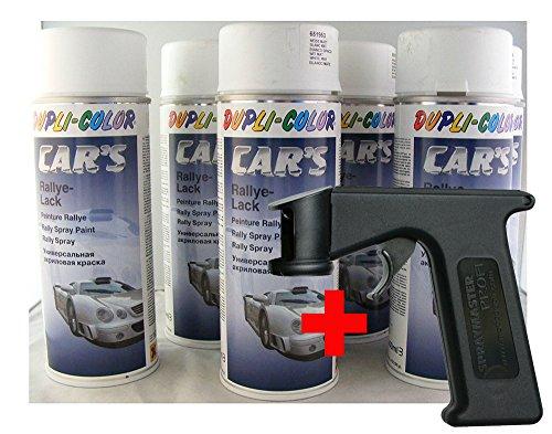 Dupli Color Car´s Lack weiss matt 6x 400ml Dosen + Spraymaster (wie Spritzpistole) Cars
