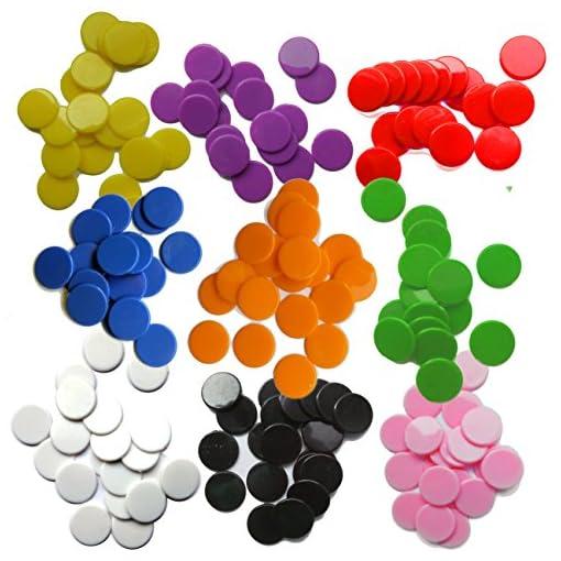 SchachQueen-100-Stk-Plastik-Spielmarken-Plastechips-19-mm-34-inch-BLAU