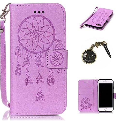 PU Cuir Coque Strass Case Etui Coque étui de portefeuille protection Coque Case Cas Cuir Swag Pour Apple iPhone 7 (4.7 pouces) +Bouchons de poussière (15YY) 1