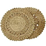 Ekan Round Shape Jute Table Mat Heat-Insulation Drink Coaster Coffee Cup Mat Tea Pad Placemat (Set Of 2 Pc) Multicolor 30 Gram Pack Of 1