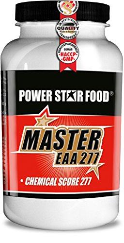 MASTER EAA 277 - Alle 8 essentiellen Aminosäuren in 100% reinster, mikrokristalliner Form - Weltweit höchster Chemical Score von 277 - 200 Kapseln - MADE IN GERMANY