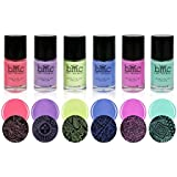 BMC 6pc Electric Pastel Creative Art Stamping Polishes - Electro Glo Collection