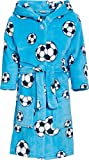 Playshoes Jungen Football Fleece Bademantel, Azul Original, 9 años (134-140 cm)