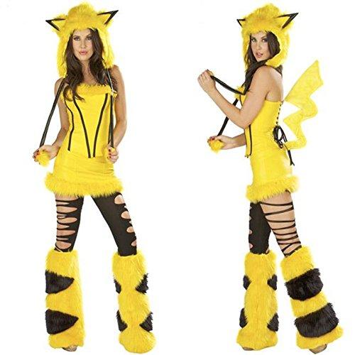 Gorgeous Gelb Cosplay Spiel Pelzkleidung Halloween- Kleidung -Kleid -Modelle in Europa und Amerika Kostüm Elefanten