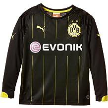 Puma BVB - Camiseta de fútbol para niño (manga larga, del equipo Borussia Dortmund) negro negro/amarillo Talla:176