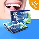 KINDAX 28 pz Strisce Sbiancanti Denti per 14 Trattamenti - Kit Strisce Dentali di Sapore di Menta 2 Week Supply Teeth Whitening Strips Professionale per Sbiancamento Denti