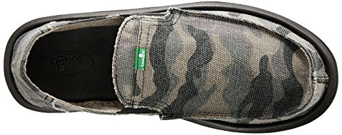 Sanuk Pick Pocket 128057, Espadrilles homme Vert - Green - Grün (CAMOUFLAGE)