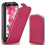 moex Samsung Galaxy S3 | Hülle Pink 360° Klapp-Hülle Etui thin Handytasche Dünn Handyhülle für Samsung Galaxy S3 / S III Neo Case Flip Cover Schutzhülle Kunst-Leder Tasche