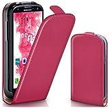 OneFlow Tasche für Samsung Galaxy S3 / S3 Neo Hülle Cover mit Magnet | Flip Case Etui Handyhülle zum Aufklappen | Handytasche Handy Schutz Bumper Schutzhülle mit Schale in Pink