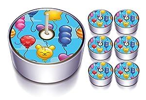 Karaloon l10007-30-Diseño Party Discount-Velas de té,, Azul