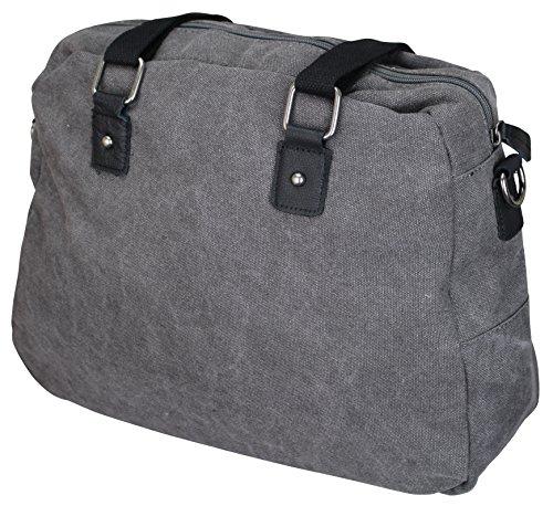 Damen Stern Handtasche Schultasche Clutch TOP TREND Tragetasche Dunkelgrau/Schwarz