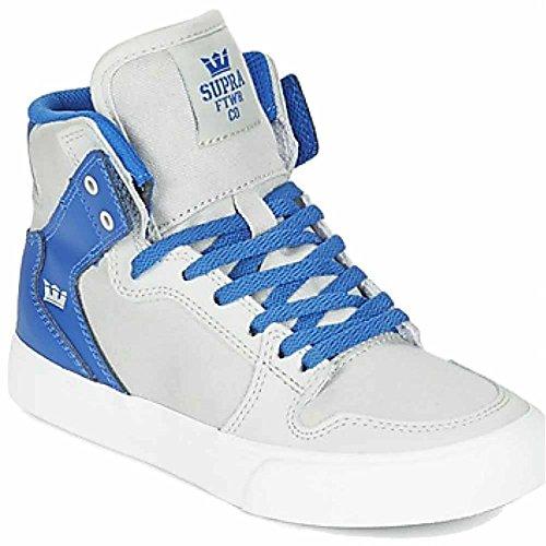 Supra Vaider, Unisex - Kinder Sneakers, Grau - Hellgrau - Größe: 1 M UK Little Kid (Jim Greco Supra)