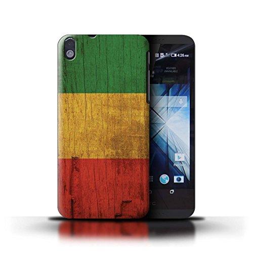 Stuff4® Hülle/Case für HTC Desire 816 / Holz Bewirken Muster Muster/Rasta Reggae Kunst Kollektion