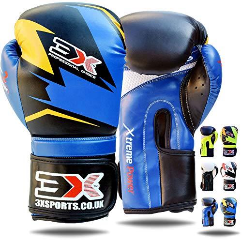 3XSports Boxhandschuhe Maya Hide Leder Muay Thai Boxsackhandschuhe Kickboxing Sparring UFC Martial Arts Training