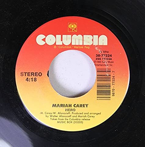MARIAH CAREY 45 RPM HERO / EVERYTHING FADES