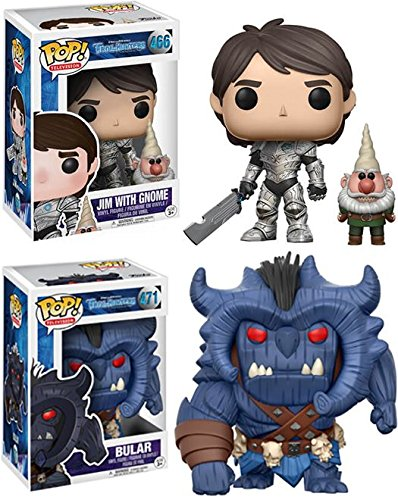 Funko POP Trollhunters Jim with Gnome Bular Stylized Vinyl Figure Bundle Set NEW