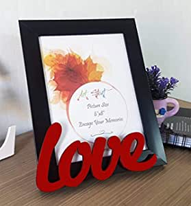 Art street - Love Customize Table Photo Frame red and Black for Valentine Day(Photo Size 6X8) Photo Gift/Love Gift/Valentine Gift