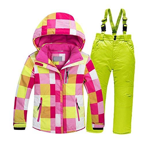 Haodasi Kids Outdoor wasserdichte Skianzug Wandern Camping winddicht Sport Kleidung (Set3,14A)
