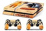 Skin PS4 HD UNCHARTED STORY - limited edition DECAL COVER Schutzhüllen Faceplates playstation 4 SONY BUNDLE