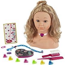 Theo Klein 5240 - Princess Coralie Schmink- und Frisierkopf, groß, 14-teilig, Spielzeug