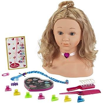 Klein 5240 - Coiffure - Tête à coiffer et à maquiller Princess Coralie, grand modèle