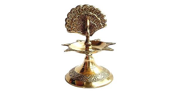 Lampe Pūjā diyas Hindoue Pooja Off Rastogi Bricolage Pure Laiton Diya Deepak Lampe /à Huile