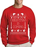 Christmas is Coming - Weihnachtspullover Männer für GOT Fans Sweatshirt Medium Rot