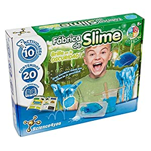 Science4you-Fábrica de Slime, Brilla en la Oscuridad, Multicolor (80002077)