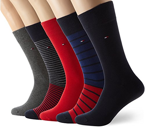 Tommy Hilfiger Th Men Stripe Box 5p, Calcetines para Hombre, (lot de 5 )