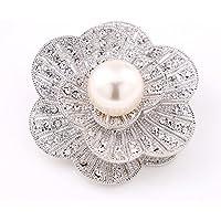 6 PCS Di alta qualità perla del cristallo Spilla / Spilla Pin per retrò femminile collo a scialle fibbia diamante fiori