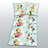 Herding 461807050521 Bettwäsche Disney Fairies, Kopfkissenbezug: 80 x 80 cm und Bettbezug: 135 x 200 cm, 100% Baumwolle, Flanell Biber