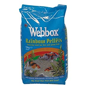 Webbox Rainbow Fish Food Pellets 10kg by Gladwells