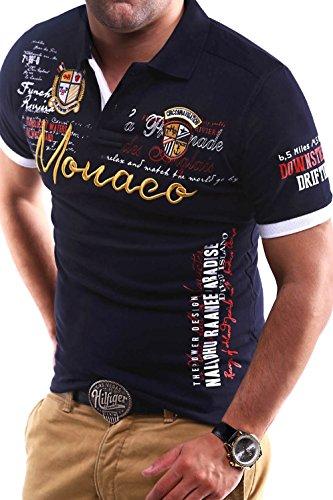 MT Styles Poloshirt MONACO T-Shirt MP-304 [Dunkelblau, 4XL]