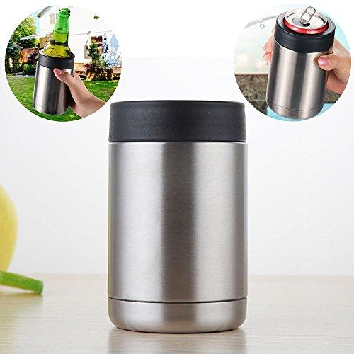 Edelstahl Kann Kühler Getränkedose Isolator Doppelwandigen Vakuumisolierte Bier Koozies für Standard 12 UNZE Dosen und Flaschen -