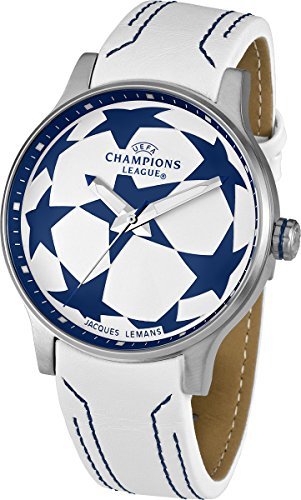 Jacques Lemans Herren-Armbanduhr XL  UEFA Champions League Analog Quarz Leder U-37B
