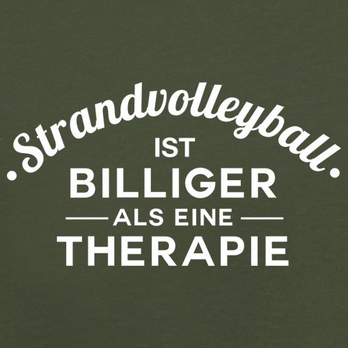 Strandvolleyball ist billiger als eine Therapie - Herren T-Shirt - 13 Farben Olivgrün