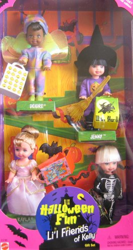 Halloween Barbie (Mattel 23796 Barbie KELLY Halloween Fun Lil Friends of Kelly Gift Set - Target Special Edition)